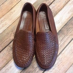 Cole Haan Country Brown Weave Top Loafers 8.5